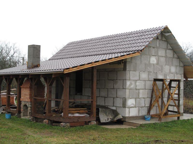 баня с верандой под одной крышей