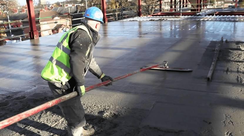 Железнение бетона мокрым способом