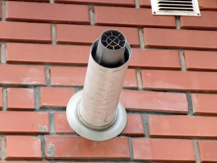 Двухтрубная система для удаления дыма