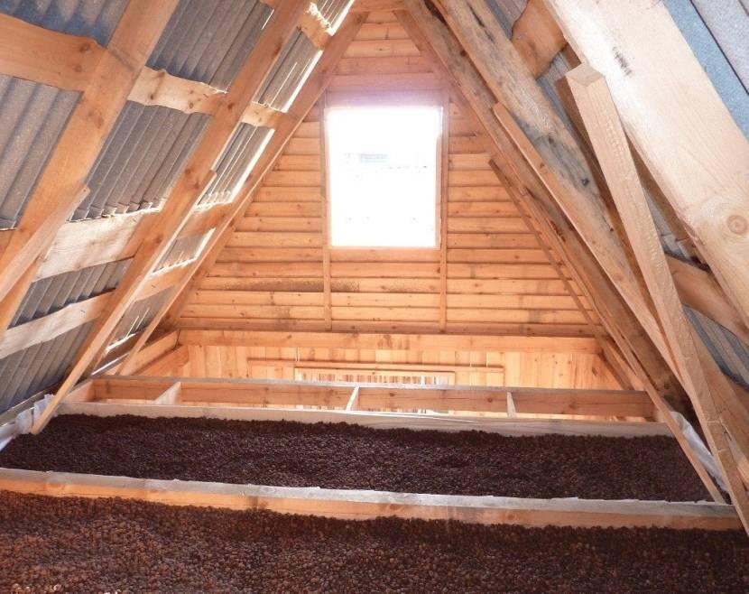 Утепление крыши чердака