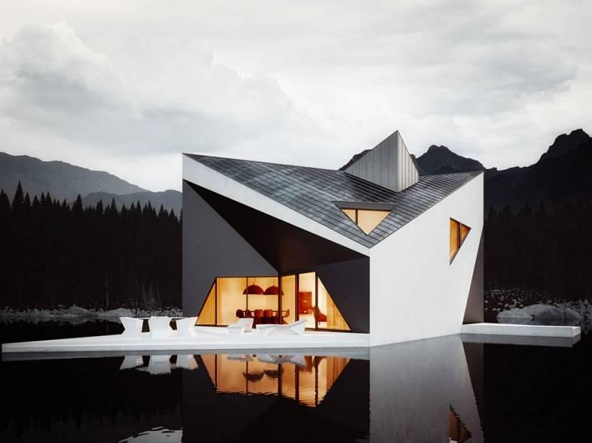 Дом над лесным озером