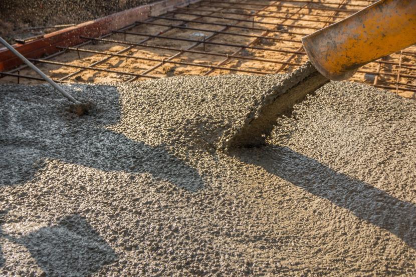 Устройство армированной бетонной плиты
