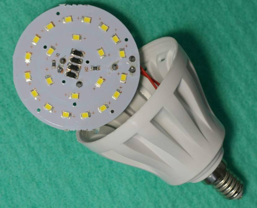 Так выглядит разобранная ЛЕД-лампа