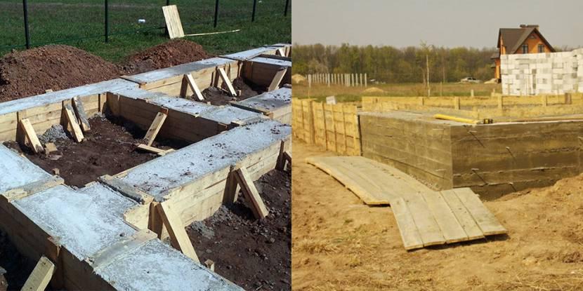 Разбирают опалубку, когда бетон затвердел до 50-70 %