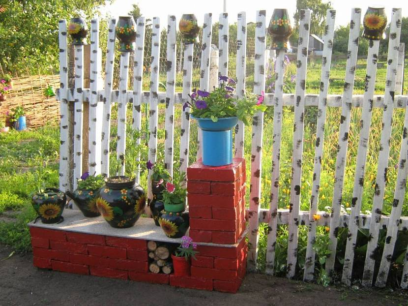 декоративный деревянный заборчик