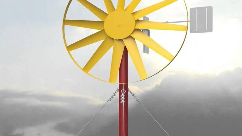 Многолопастный ветрогенератор для своего дома