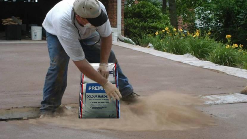 Минеральный колер для печатного бетона