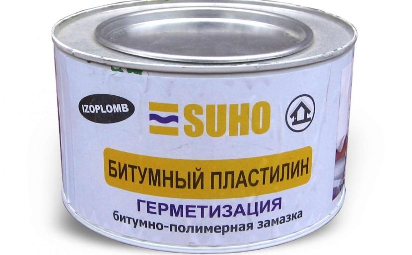 Битумно-полимерная замазка для швов