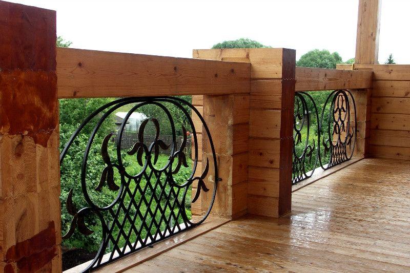 ограждения для балкона в загородный дом