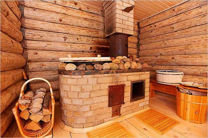 Каменная банная печь