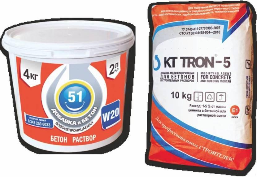 Специализированные добавки в бетонный раствор