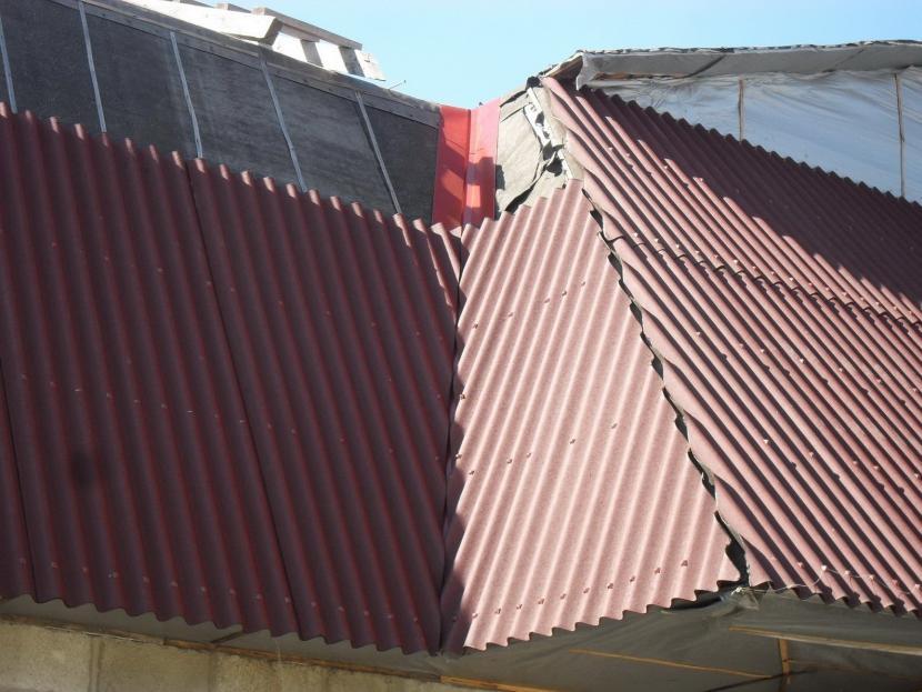 Участки крыши, находящиеся в тени, выгорают медленнее