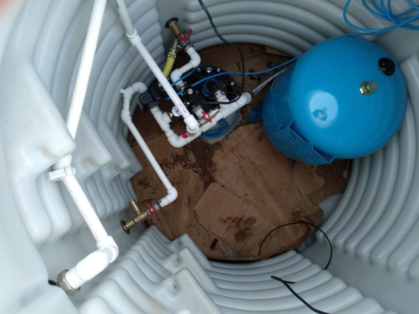 Готовый подземный кессон из пластика