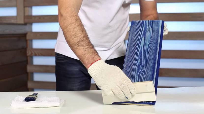Обработка обожженной доски
