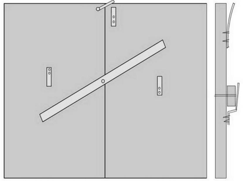 Принцип работы засова-вертушки