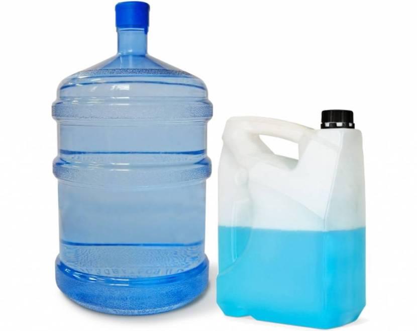 Антифриз и дистиллированная вода для разбавления