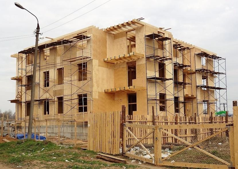Деревянный многоквартирный дом