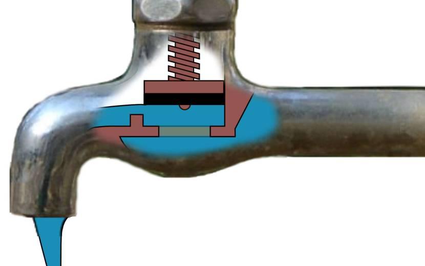 Вентильный кран с клапанным запором