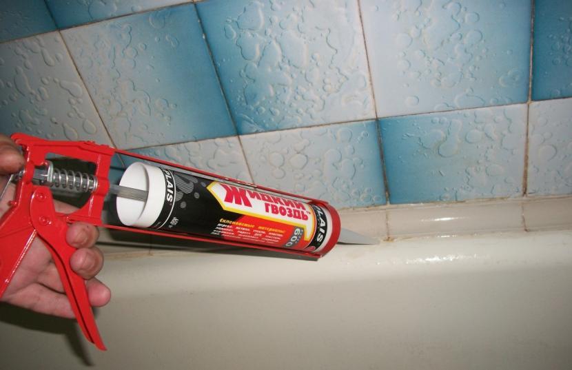 Применение жидких гвоздей в домашних условиях
