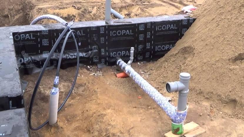 Система канализации через фундамент