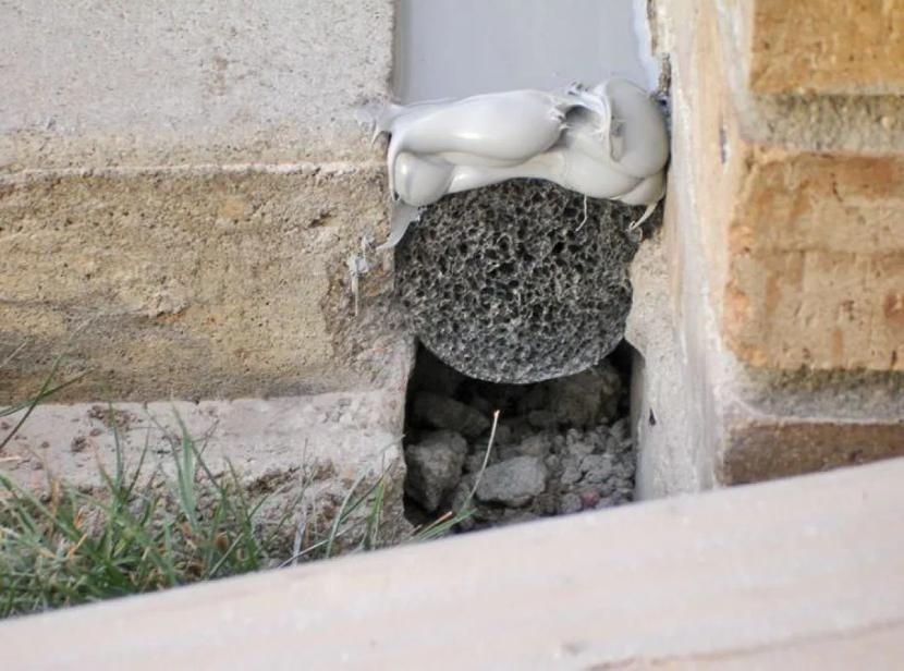 Деформационный шов в бетоне