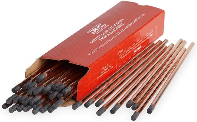 Пример угольных электродов с медным покрытием