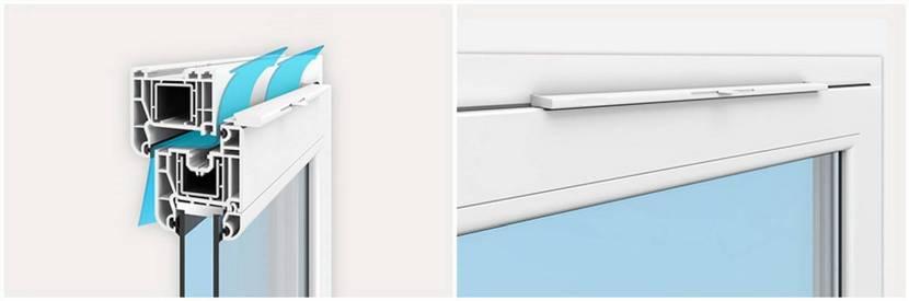 Доступ воздуха в помещение могут обеспечить приточные клапаны