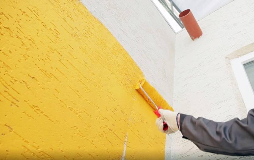 Окрашивание оштукатуренного фасада