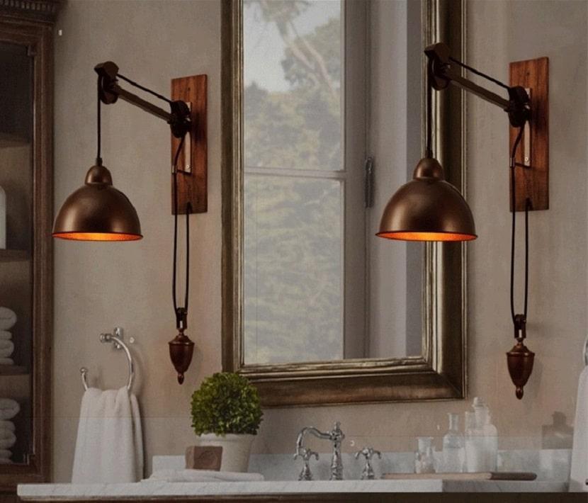 Винтажные светильники в стиле гранж